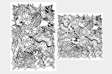 Pattern of Vector leafs