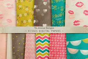 Kisses Digital Papers