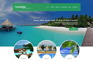 Paradise Travel Agency Joomla Theme