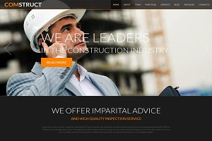 Comstruct - Business Joomla THeme