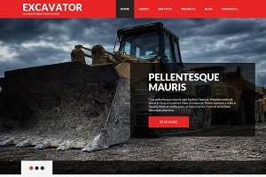 Excavator - Joomla Template