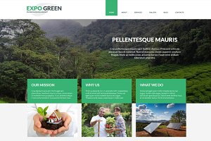 Expo Green - Joomla Tempalte