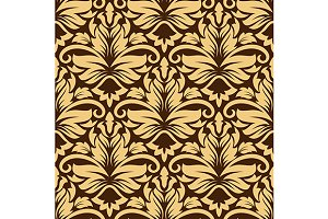 Seamless arabesque pattern in brown