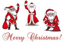 Cartoon Santa Clauses