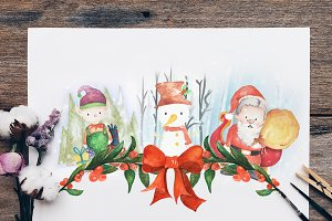 Christmas Cards Collectible Clipart