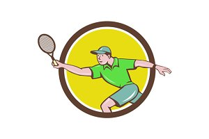 Tennis Player Racquet Forehand Circl
