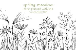 Floral Doodles, Flowers,
