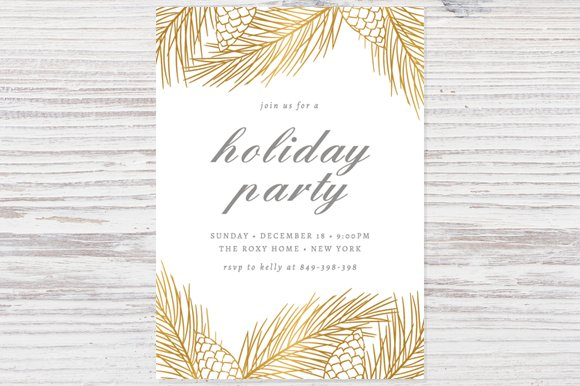Holiday party invitation template invitation templates holiday party invitation template invitation templates creative market stopboris Gallery