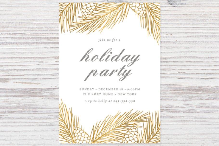 Holiday Party Invitation Template ~ Invitation Templates ~ Creative ... 5780cdca7