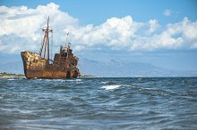 Old rustic big ship