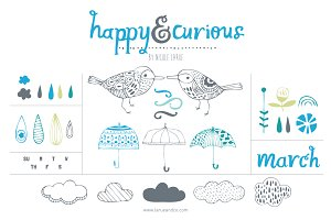 Happy & Curious (Clipart)
