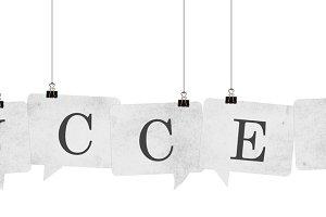 Success speech bubble word