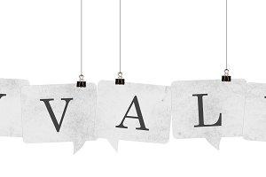 keyvalues speech bubble word