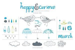 Happy & Curious (Vector)