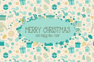Xmas set. Patterns & Greeting cards