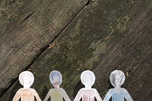 Paper made people figures.