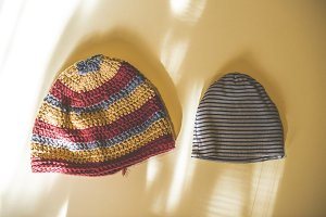 Big and small winter hats
