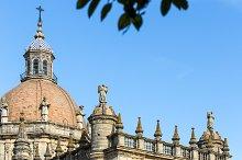 Churches and streets. Jerez de la Fr