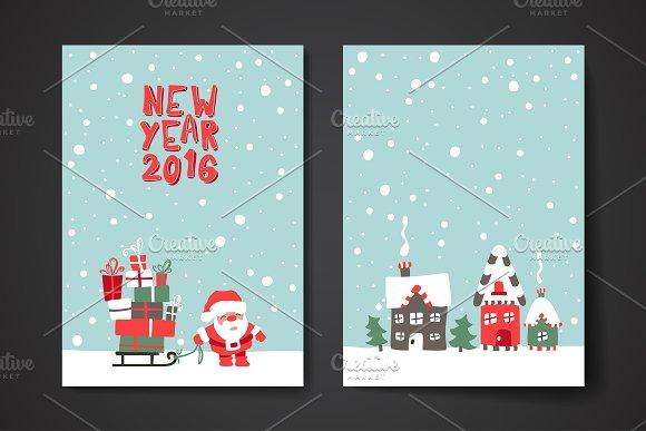 Merry christmas card template flyer templates creative market merry christmas card template flyers m4hsunfo