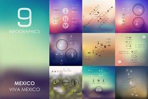 9 Mexico infographics