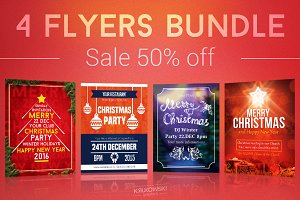Simple Christmas Flyers Bundle