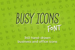 Busy Icons Font