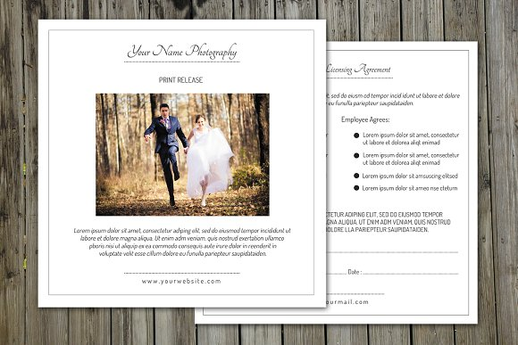 Photographer Print Release formV144 Flyer Templates on Creative – Print Release Form