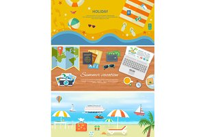 Beach Holidays in Flat Design