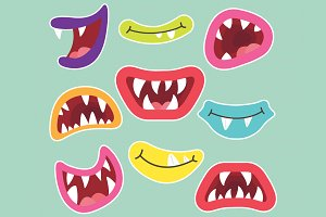 Litter Monsters Mouths Collection