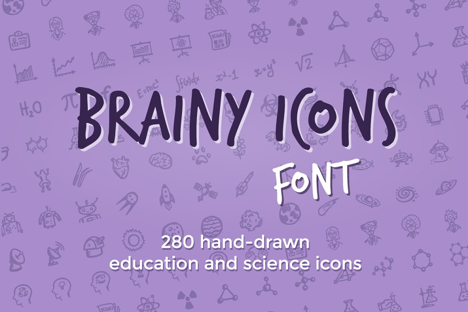 Brainy Icons Font ~ Symbol Fonts ~ Creative Market