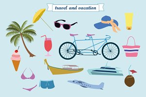 Summer  vector clip art.