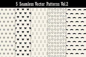 5 Seamless Vector Patterns Vol2