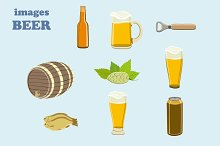 Beer colorful vector images