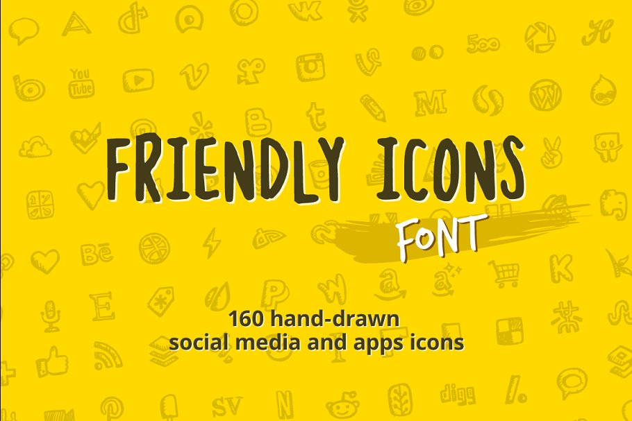Friendly Icons Font ~ Symbol Fonts ~ Creative Market
