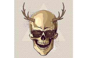 Hipster Vector Skull