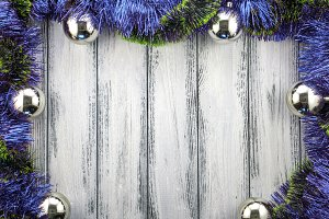 Blue decorative New Year background