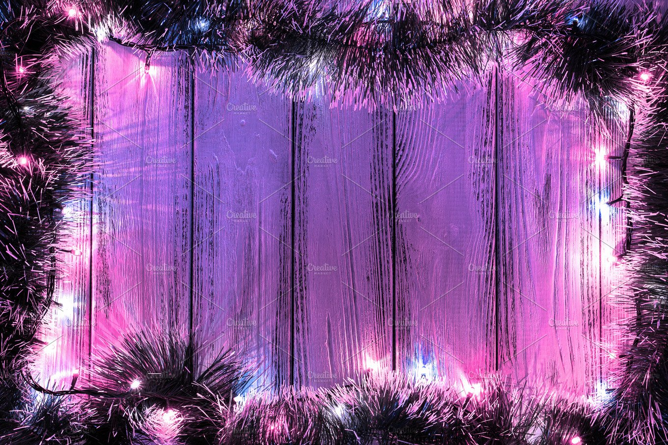Violet Garland Lights Background Abstract Photos