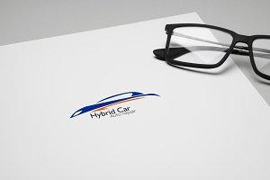 Hybrid Car Logo Template