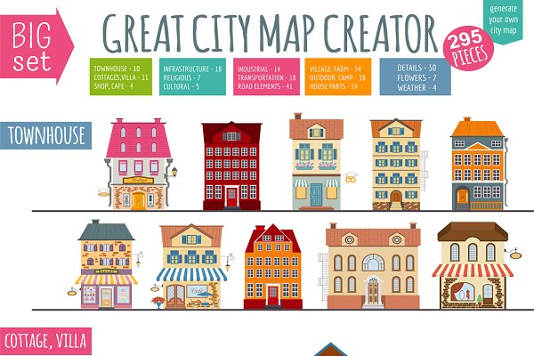Great City Map Creator set
