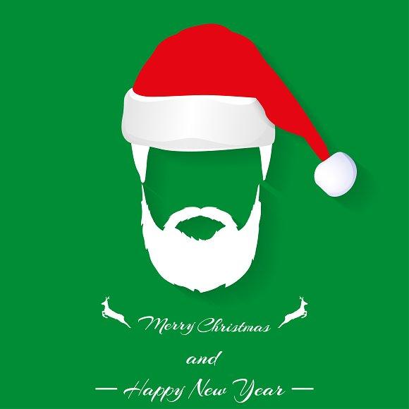 Santa hat and beard ~ Illustrations ~ Creative Market f08e53b40cb