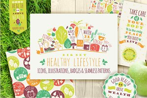 Healthy lifestyle collections.