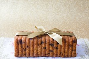 Traditional fruit cake for Christmas