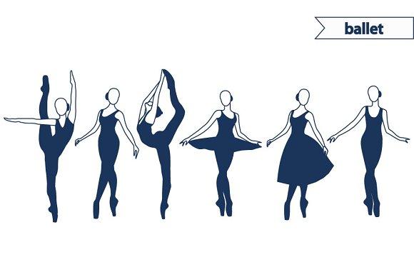 Ballerina In Ballet Pose Pre Designed Illustrator Graphics Creative Market
