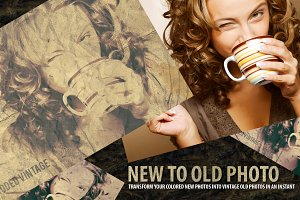 New-to-Old-Photo-Transfrom-Template