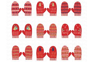 Red Christmas Glove Collection