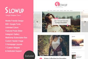 Slowup A Responsive Wordpress Theme