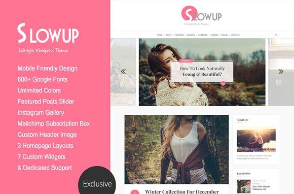 Slowup A Responsive Wordpress Theme