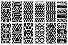 32 Aztec seamless patterns