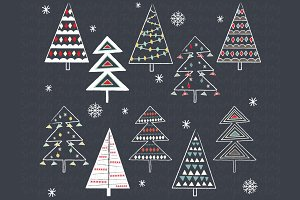 Chalkboard Christmas Tree Collection