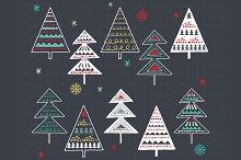 Chalkboard Christmas Tree Set